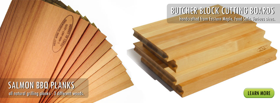 BBQ Salmon Planks & Butcher Blocks