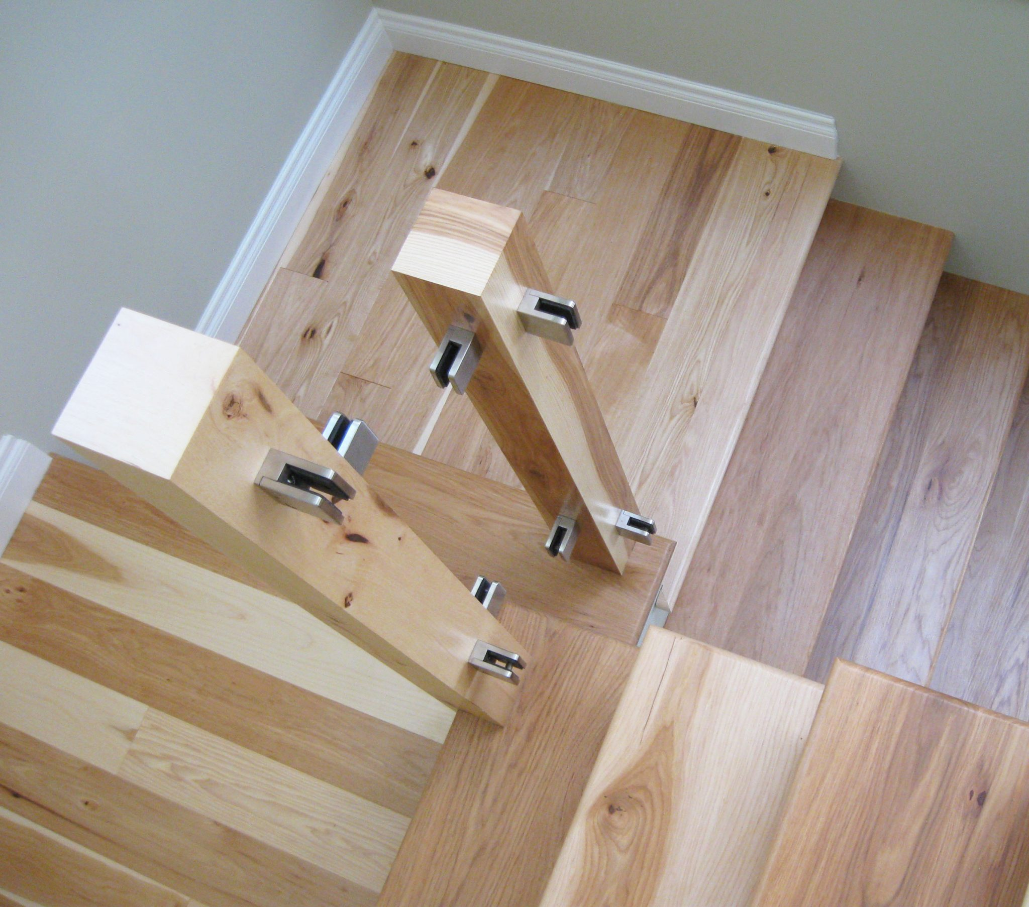 hickory stair treads and posts