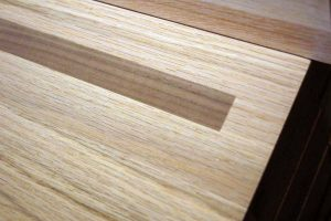 Red Oak treads with inlay