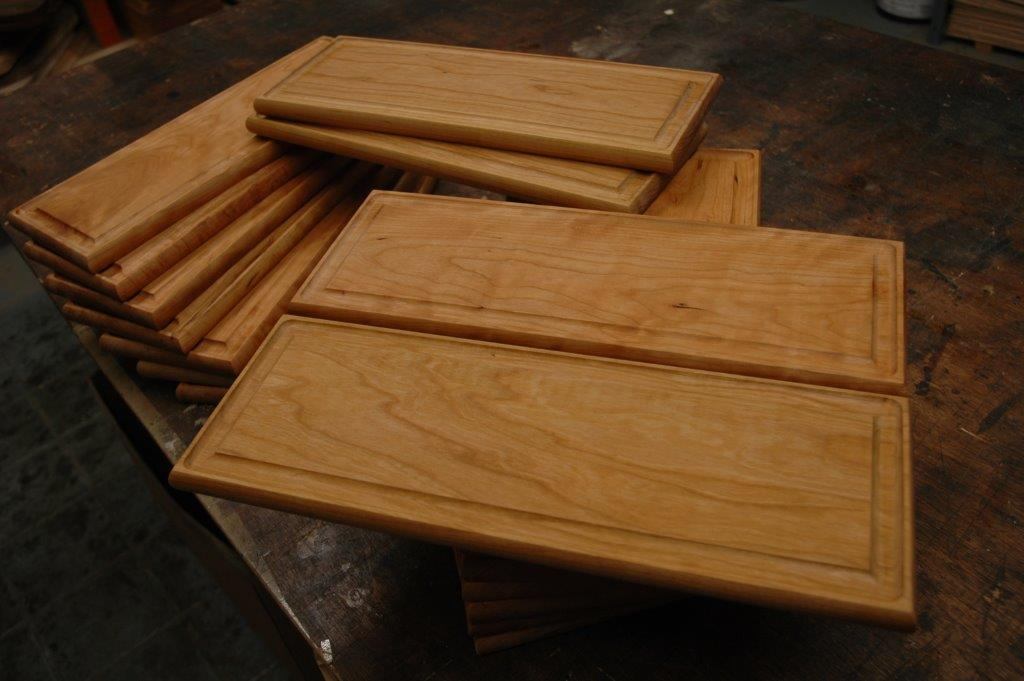 cherry wood steak boards
