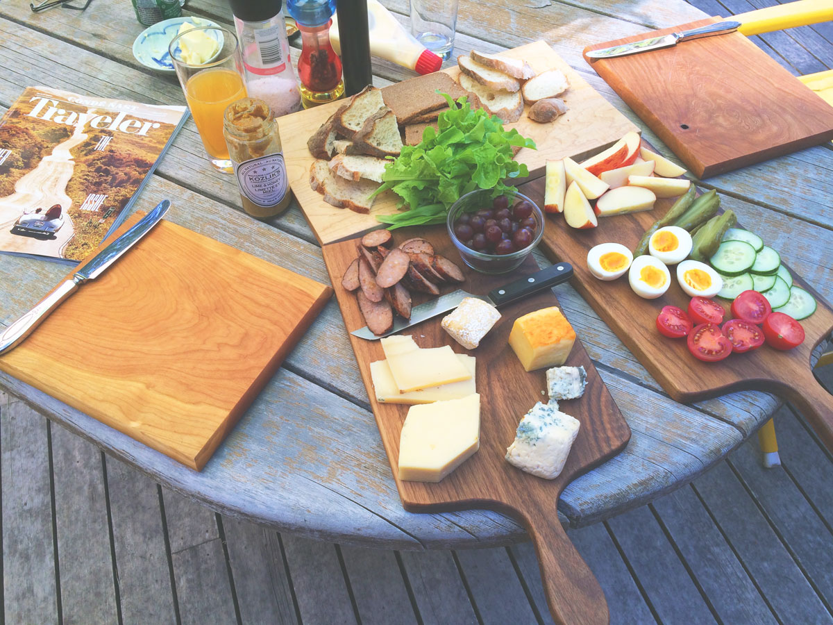 wood culinary food serving boards
