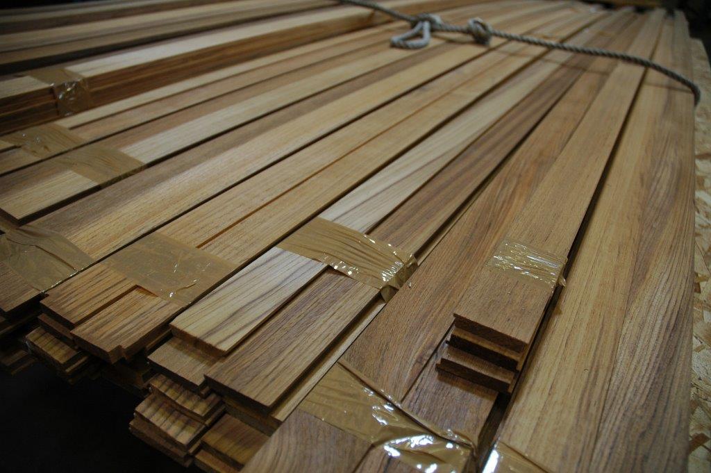 VG teak decking boat lumber