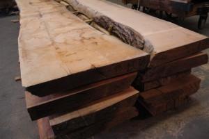 western maple live edge slabs