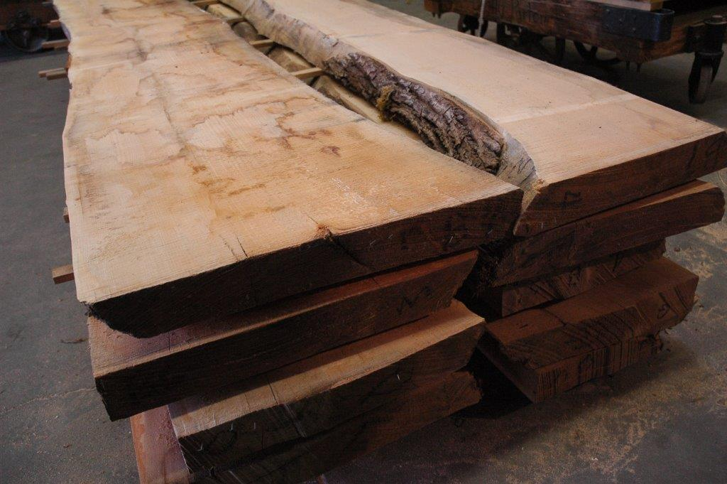 western maple live edge slabs