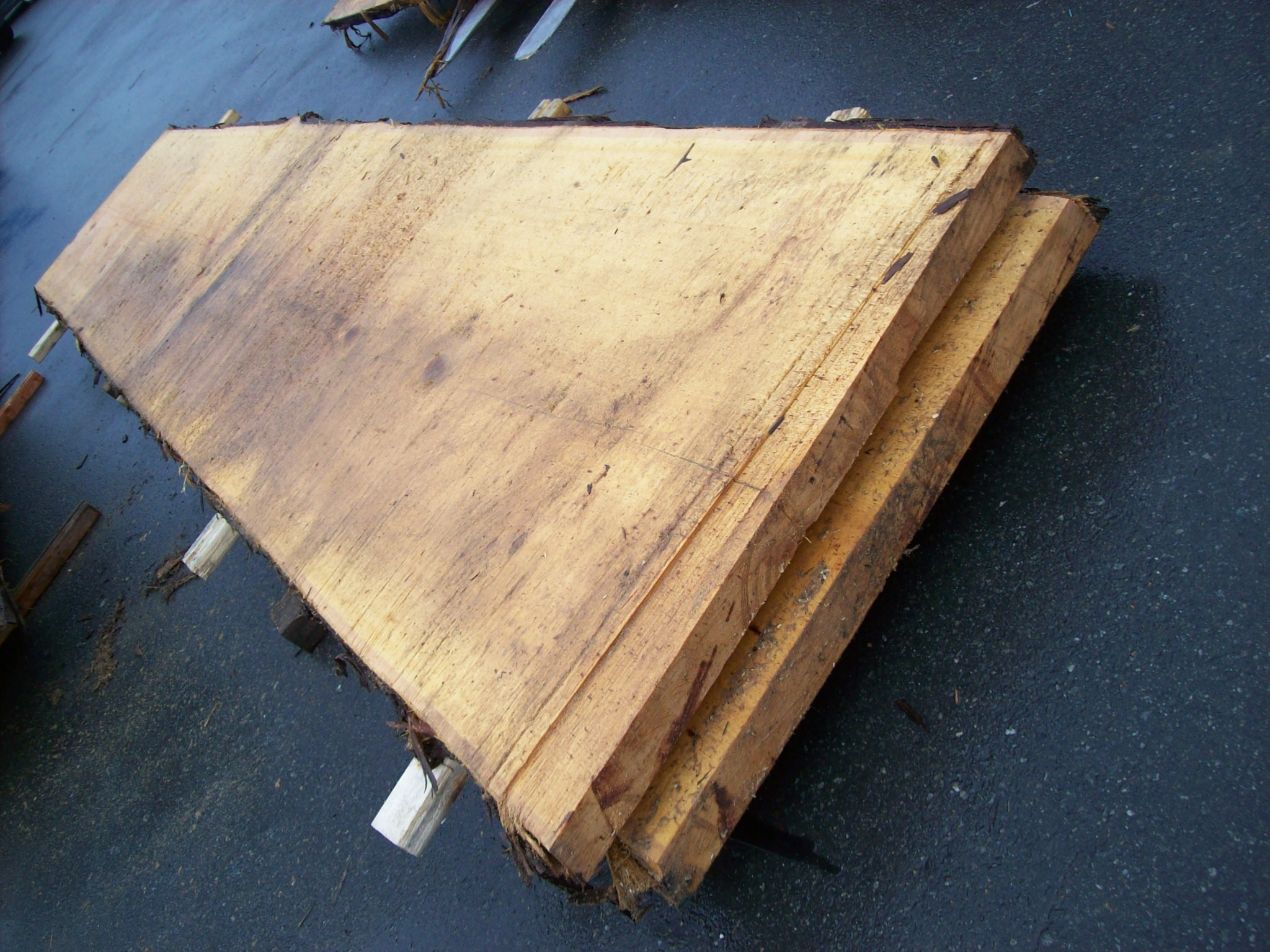 yellow cedar live edge slabs