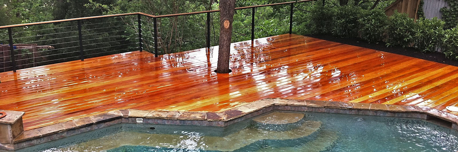Wood decking care products west wind hardwood for Hardwood decking supply