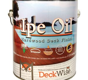 Ipe Oil finish for wood decking