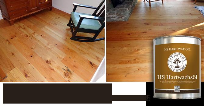 natural hard wax oil floor finish