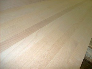 beech countertops before stain