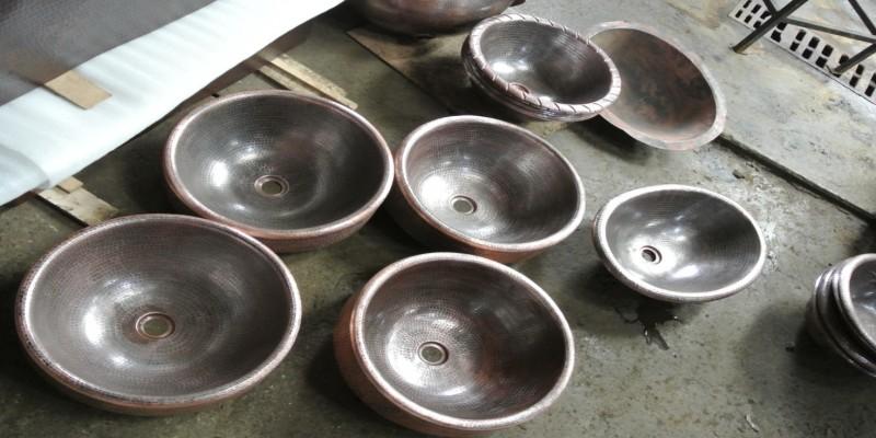 Copper Sinks in Santa Clara Del Cobre, Michoacán