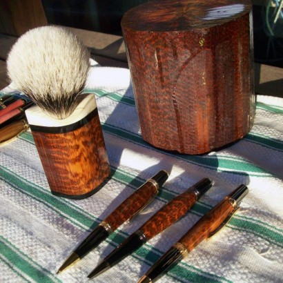 snakewood products turned by Matthew Quenet