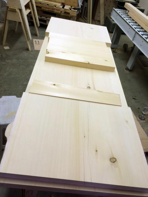 Wide Yellow Cedar Table