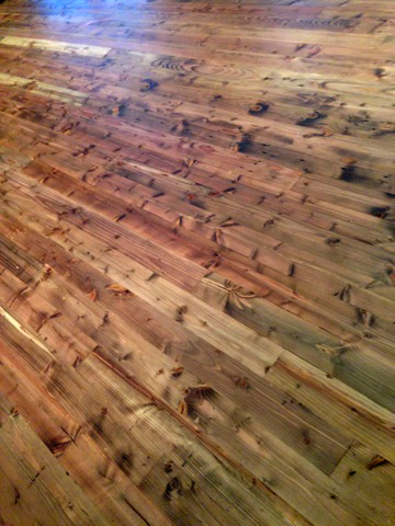 recycled douglas fir flooring