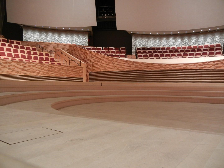 yellow cedar stage flooring bing concert hall stanford