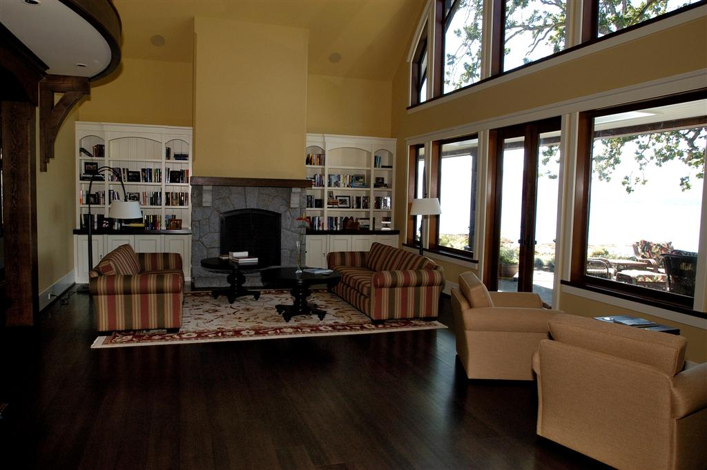 stained douglas fir floor