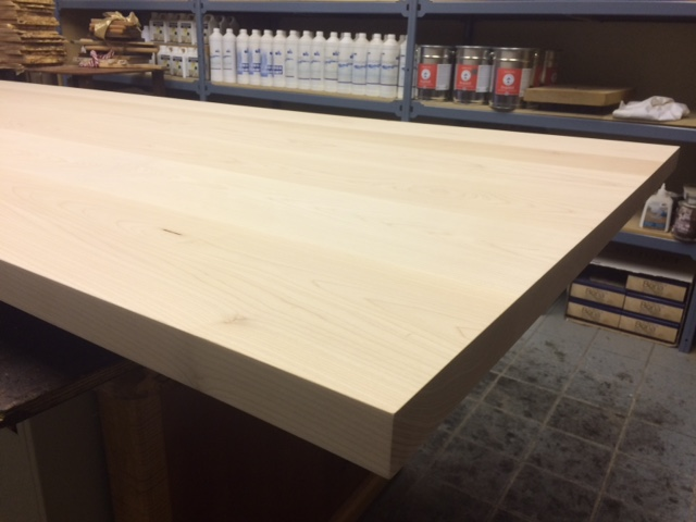 western maple table top