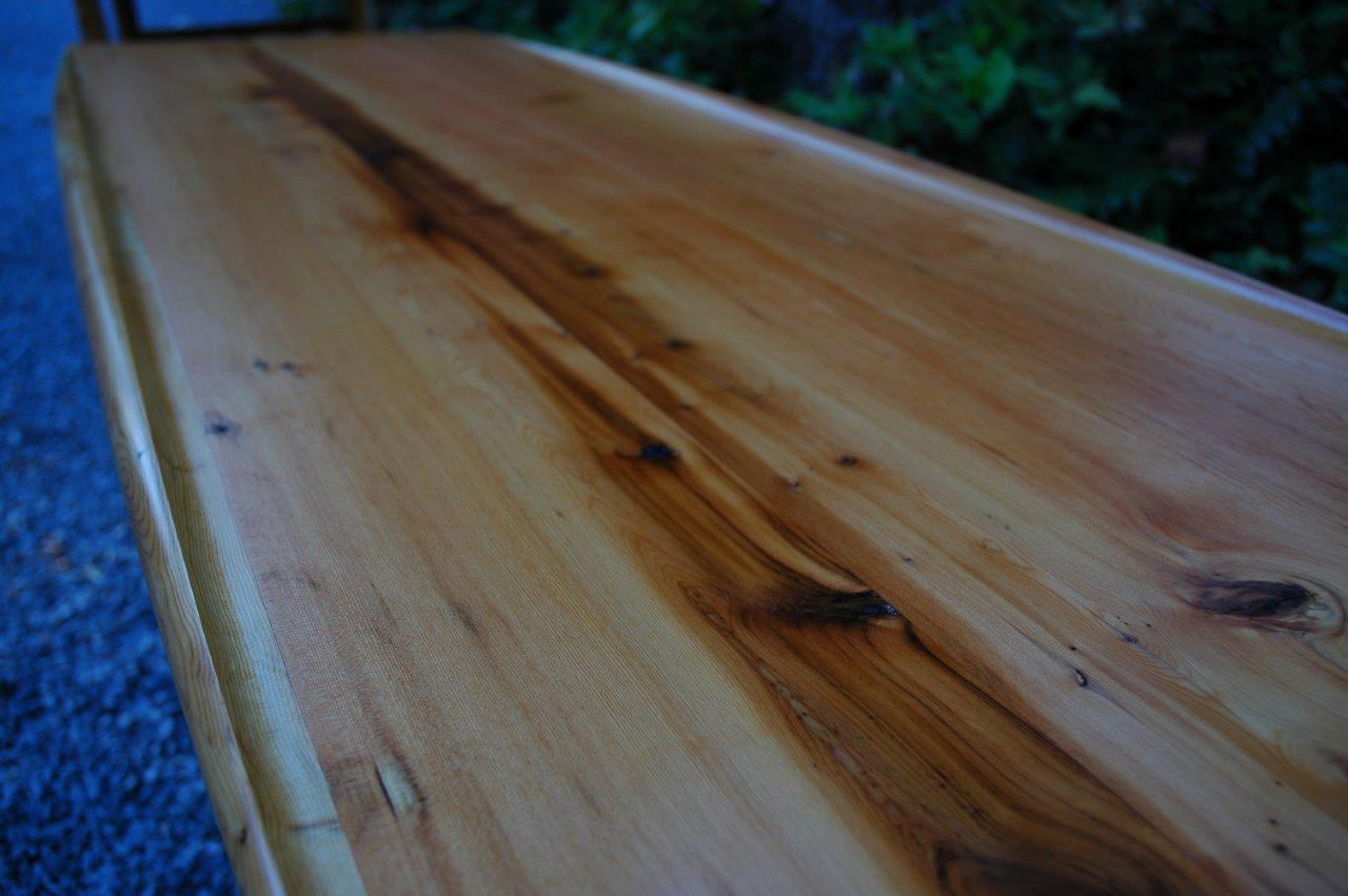 We Have Western Yew Here, Its Slightly Different But We Just Made This Table  From It: ...