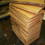 maple live edge grooved serving boards