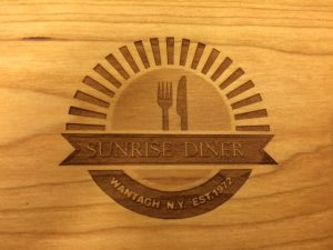 sunrise diner engraved serving boards