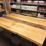 Western Maple and Walnut Table Top-Regina