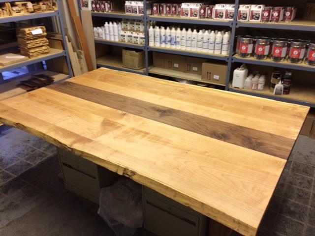 Western Maple And Walnut Table Top Regina