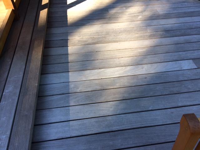 aging ipe outdoor deck
