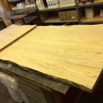 Western Maple Island counter top with waterfall