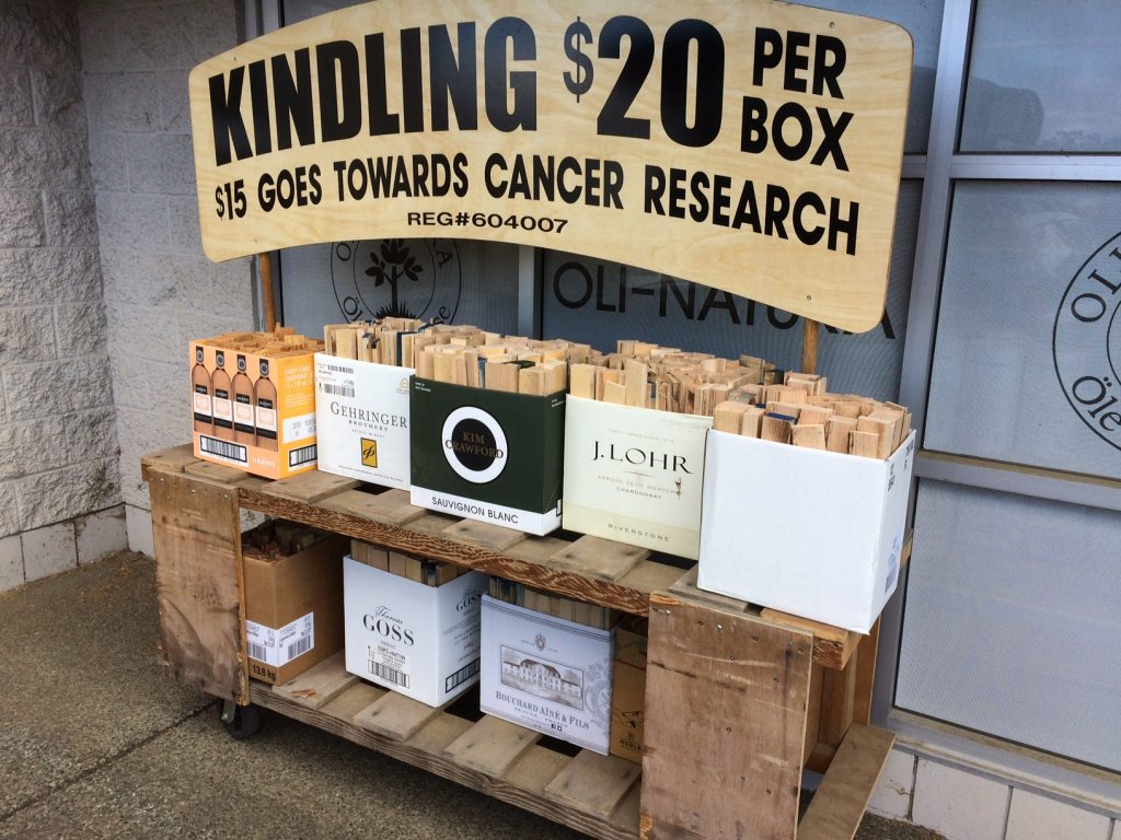 charity kindling boxes