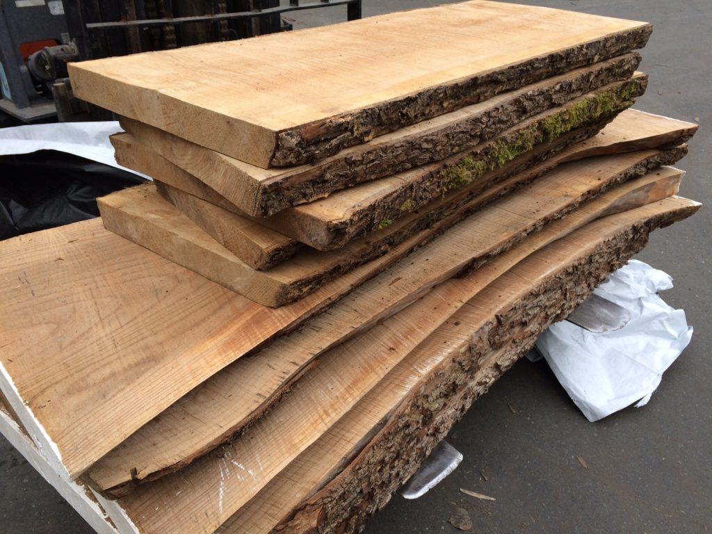 Live edge elm slabs west wind hardwood