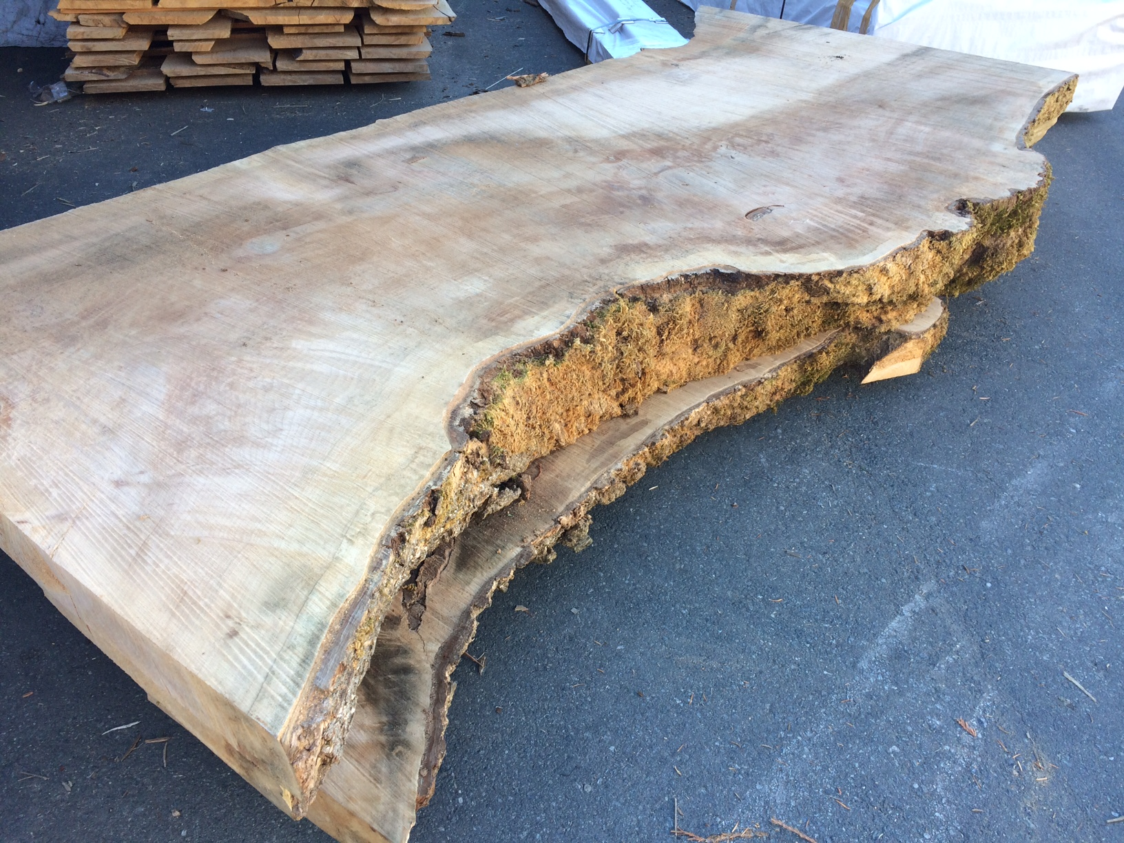 live edge maple slabs
