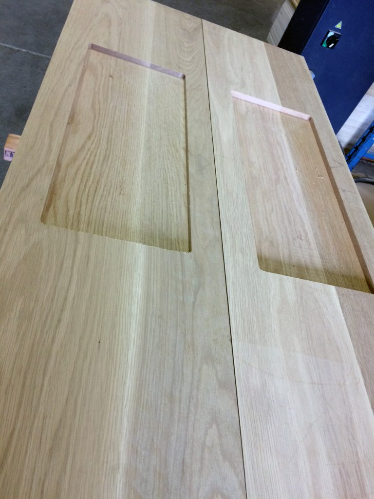 white oak treads with recess