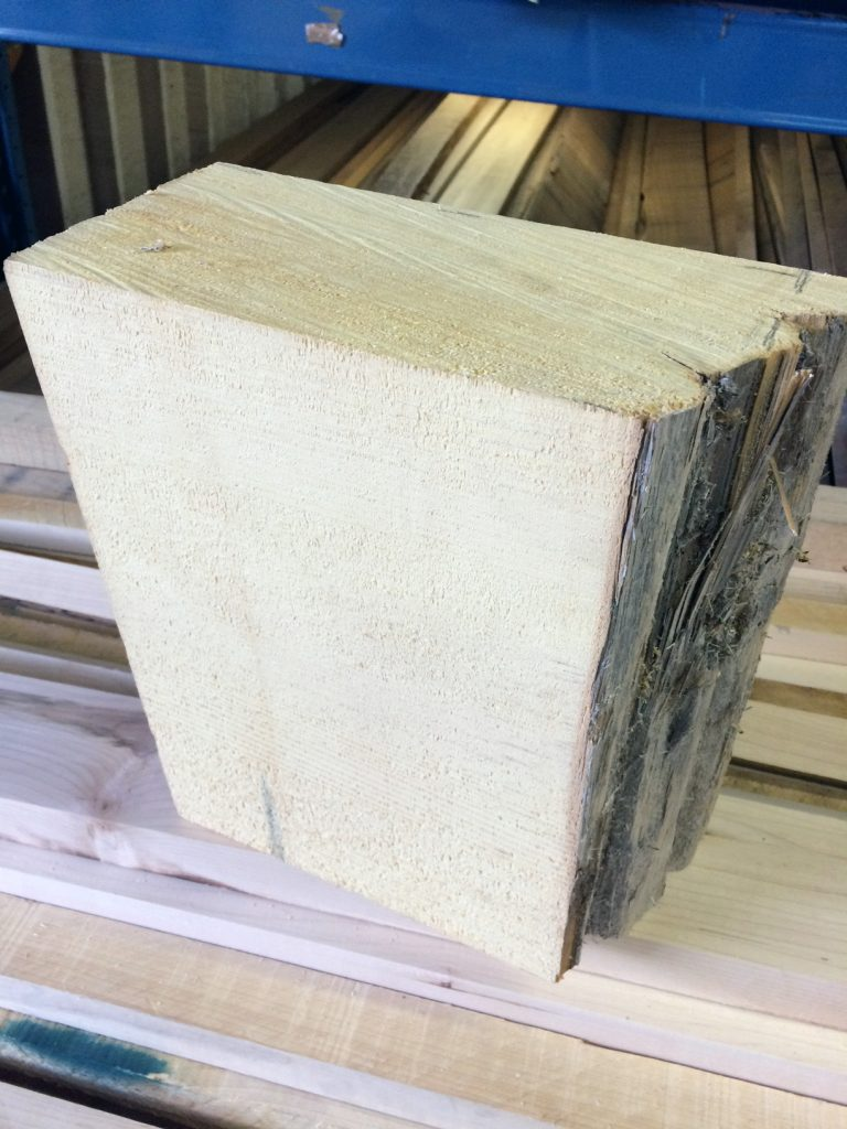 yelow cedar carving block-newfoundland