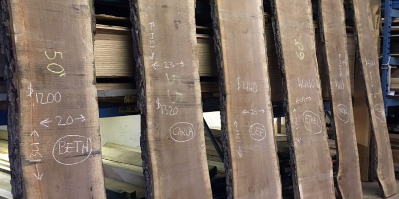 Find Your Perfect Match… Black Walnut Slabs