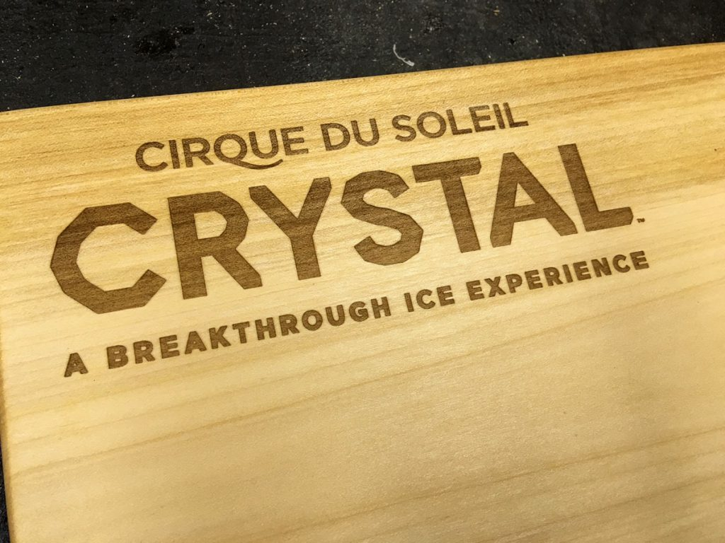 live edge serving board-cirque du soleil