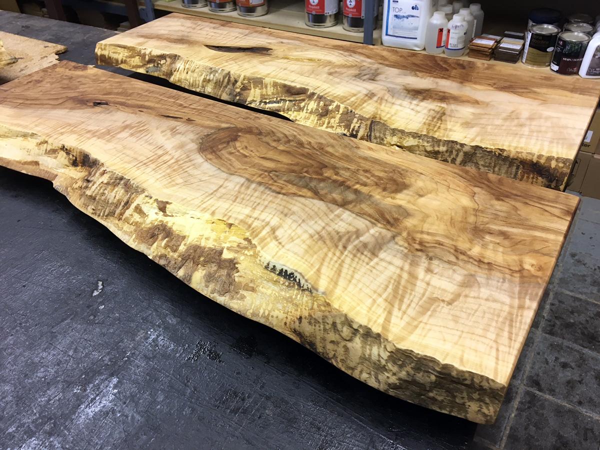 western maple floating shelves